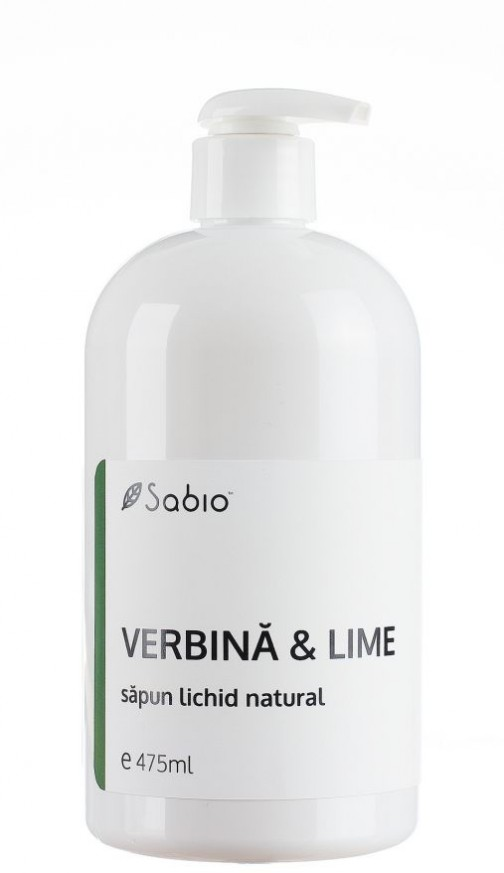Sapun natural Lichid cu Lime si Verbina 475 ml