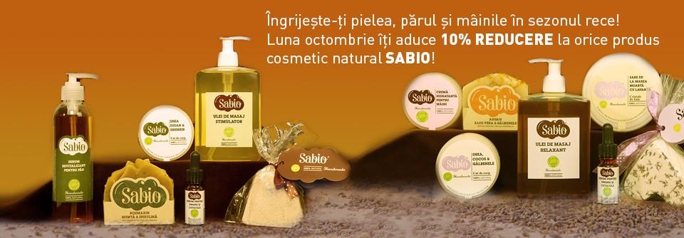 Cupon de reducere pentru promotia cosmetice naturale octombrie