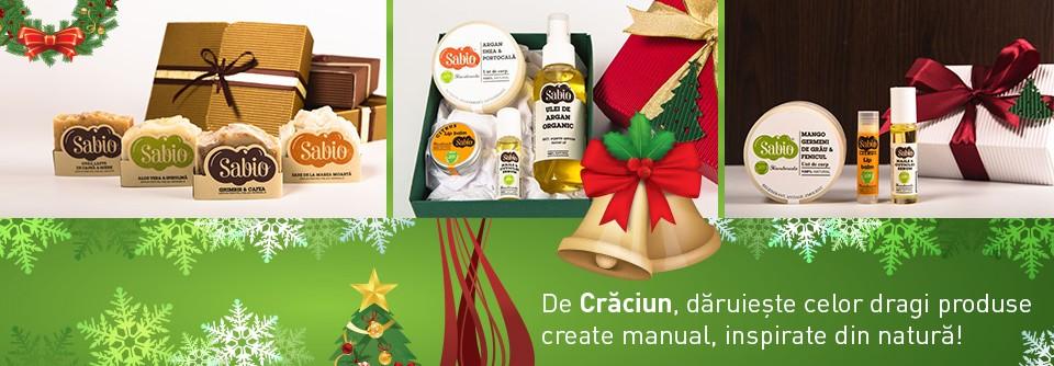 banner cosmetice organice cadou de Craciun
