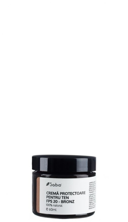 Crema naturala cu protectie solara pentru ten FPS20 bronz