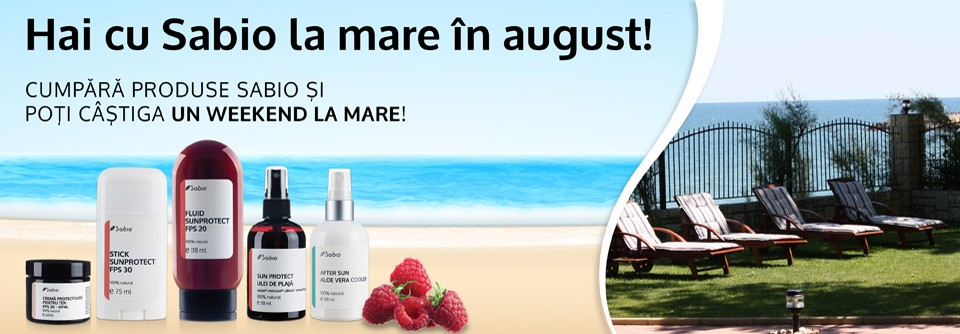 Hai cu Sabio la mare in august