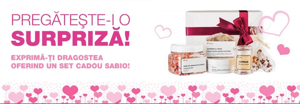 Pachete cadou de cosmetice naturale pentru Valentine's Day si Dragobete