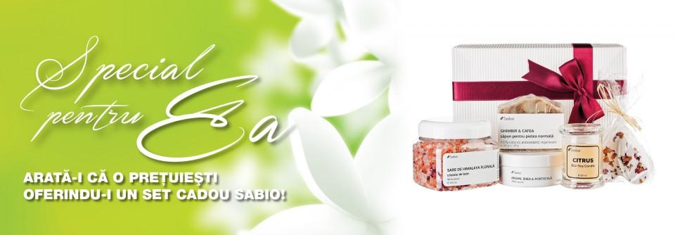 Set cadou primavara cosmetice naturale Sabio