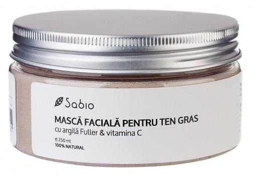 Masca Faciala Argila Fuller si Vitamina C pentru ten gras cu ingrediente naturale