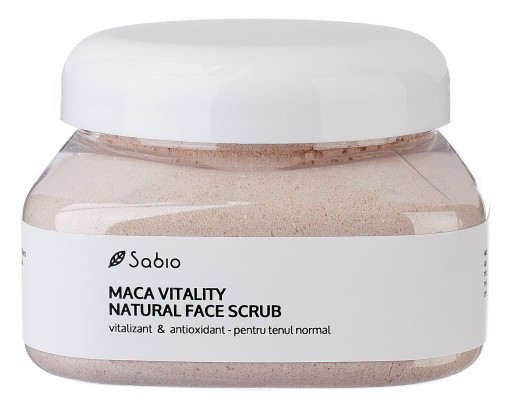 Exfoliant Facial Natural Maca Vitality pentru ten normal cu vitamine