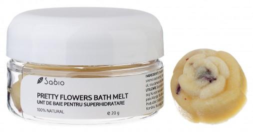 Cutie 4 flori unt de baie Pretty Flowers Bath Melt pentru piele uscata Sabio