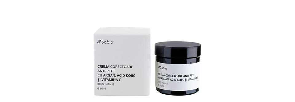 Crema faciala anti pete pigmentare Sabio Natural