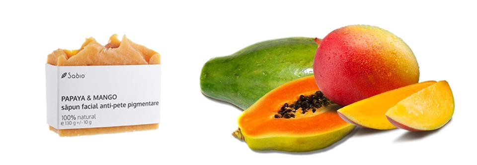 Sapun facial cu papaya anti-rid