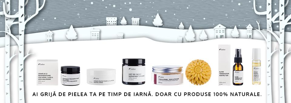 Iarna cu produse naturale Sabio Cosmetics