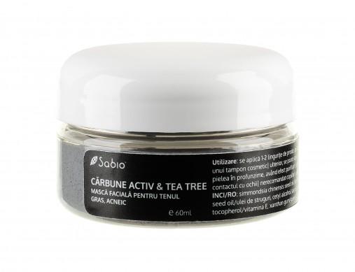 Masca Faciala pentru ten gras, acneic Carbune Activ Tea-Tree