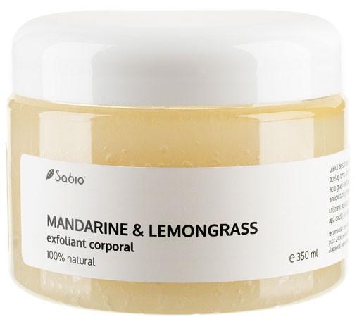 Exfoliant corporal Mandarine si Lemongrass Natural Sabio Cosmetics