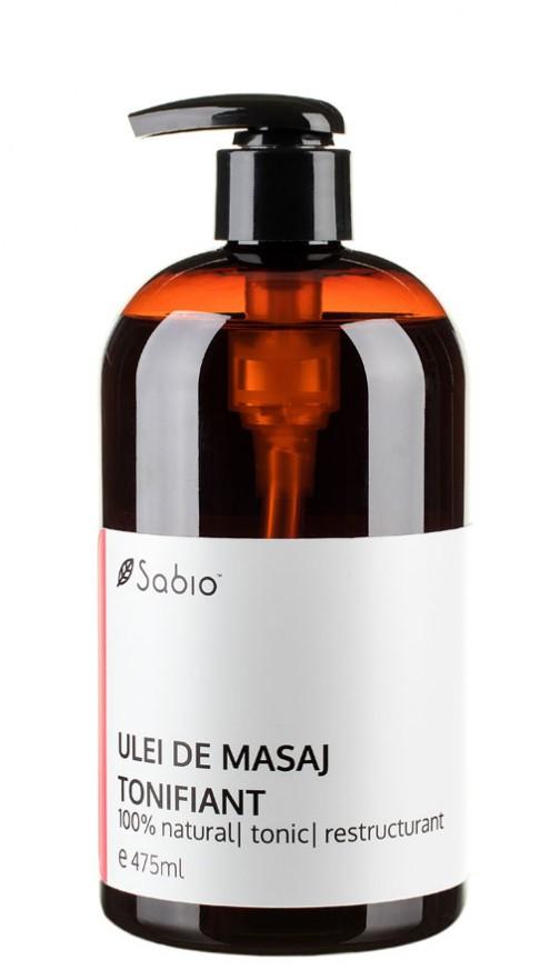 Ulei de masaj tonifiant natural Sabio Cosmetics
