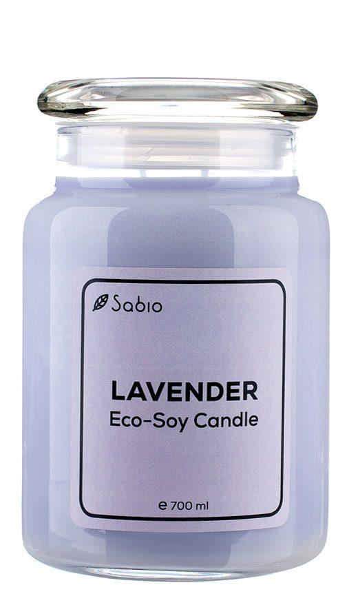 Lumanare Naturala Premium Eco-Soy Lavender Borcan de Sticla 700 ml