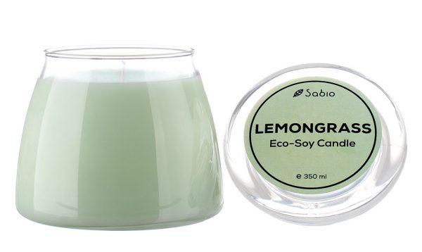 Lumanare Naturala Premium Eco-Soy Lemongrass 350 ml