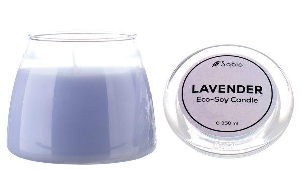 Lumanare Naturala Premium Eco-Soy Lavender Borcan de Sticla 350 ml