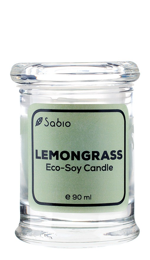 Lumanare Naturala Premium Eco-Soy Lemongrass 90 ml