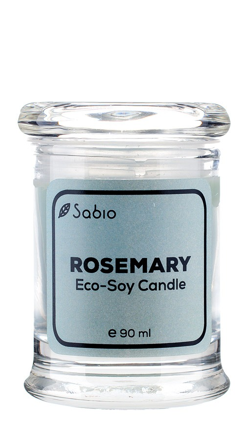 Lumanare Naturala Premium Eco-Soy Rosemary 90ml