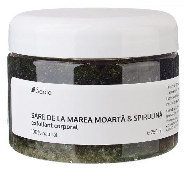 Exfoliant natural corporal cu Sare de la Marea Moarta si Spirulina