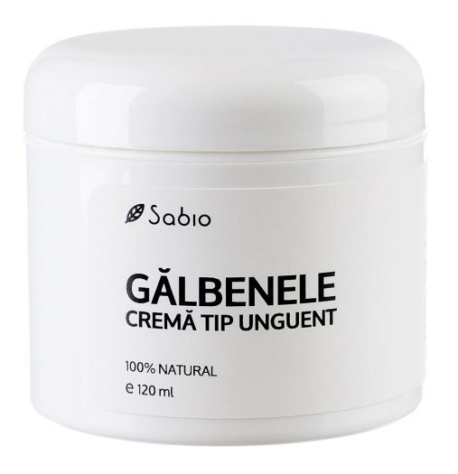 Galbenele Crema tip unguent antibacterian, cicatrizant Sabio