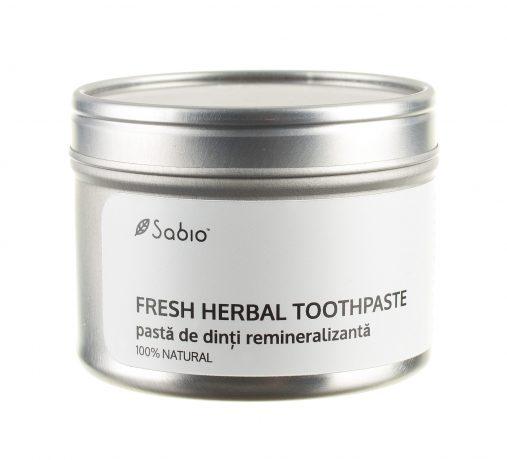 Pasta de dinti naturala remineralizanta Fresh Herbal Sabio
