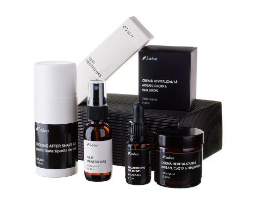 Pachet Cadou barbati cosmetice naturale Black box for Him Sabio