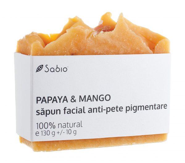 Sapun facial natural anti-pete pigmentare Papaya si Mango Sabio