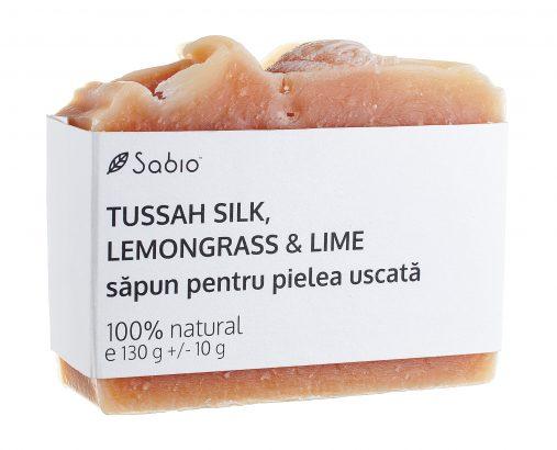 Sapun natural piele uscata Tussah Silk, Lemongrass si Lime