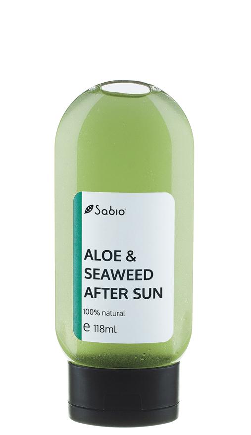 Gel natural pentru dupa plaja , soare cu aloe si alge marine