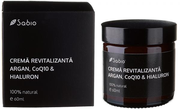 Crema anti-rid pentru barbati Argan, CoQ10, Hialuron Sabio
