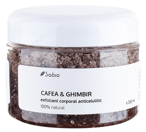 Exfoliant anticelulitic cu cafea si ghimbir 100% natural